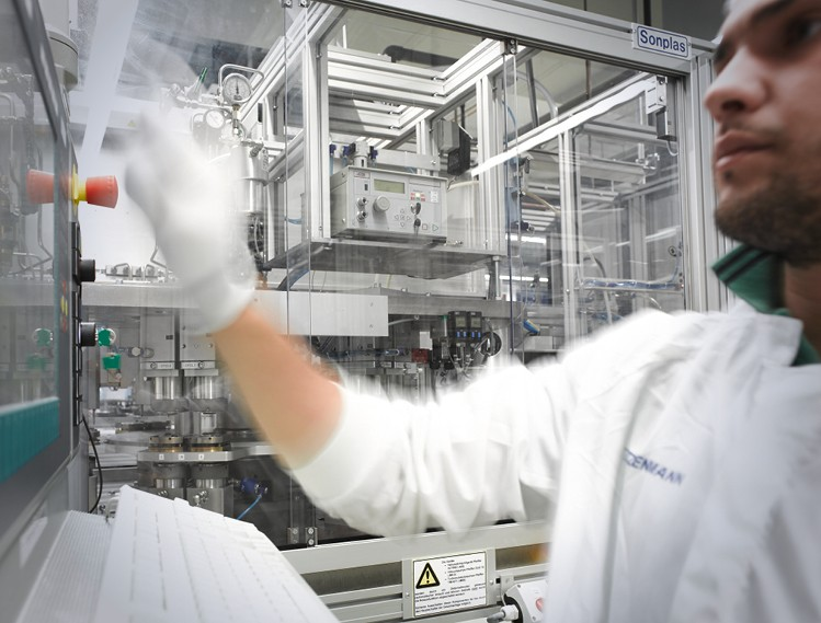 Semiconductor Clean Room Production Image Text